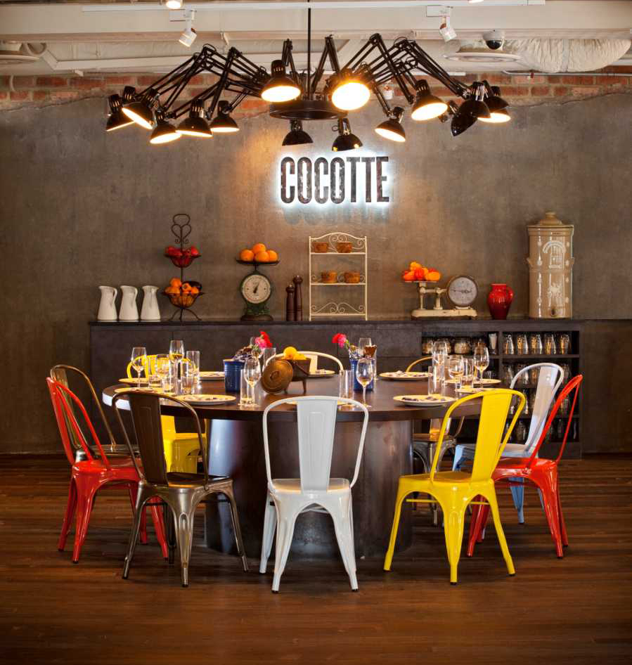 Colorful Minimal Room: LET'S STAY: Cool Communal Table Ideas