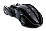 "Considered by some to be the most beautiful pre-war car, the Atlantic body Type 57S featured flowing coupe lines with a pronounced dorsal seam running front to back. It was based on the ""Aérolithe"" concept car of 1935. Like the Type 59 Grand Prix car, the Aérolithe used Elektron (a magnesium alloy) or Duralumin (an aluminium alloy) for its body panels."