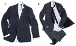Left to right: Gianfranco Ferre and Dior Homme