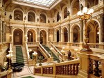 From the movie, we know James Bond and Vesper shared a room at some venerable luxury hotel with a view of Piazza San Marco. It doesn't exist but you can visit the hotel's lobby- Prague's Národní Muzeum, Natural History Museum
