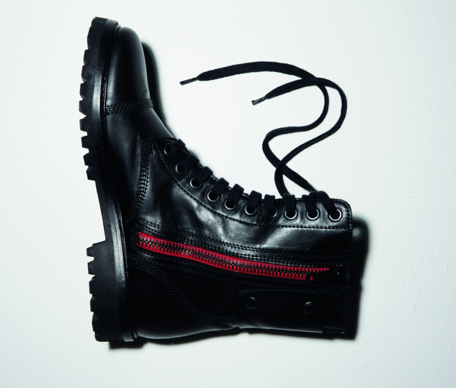 Zadig & Voltaire Boots with red trim detail along zipper