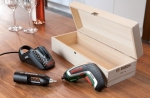 Bosch IXO Vino Cordless Screwdriver with Corkscrew Attachment in a set