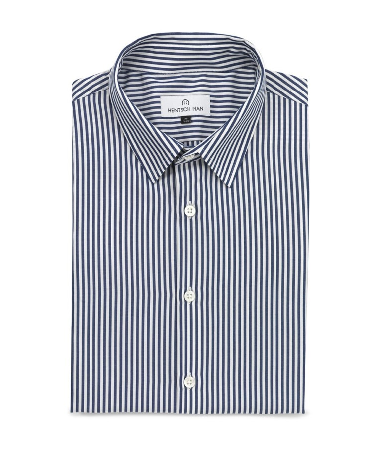 hentsch man summer 2011 collection friday shirt blue-stripe