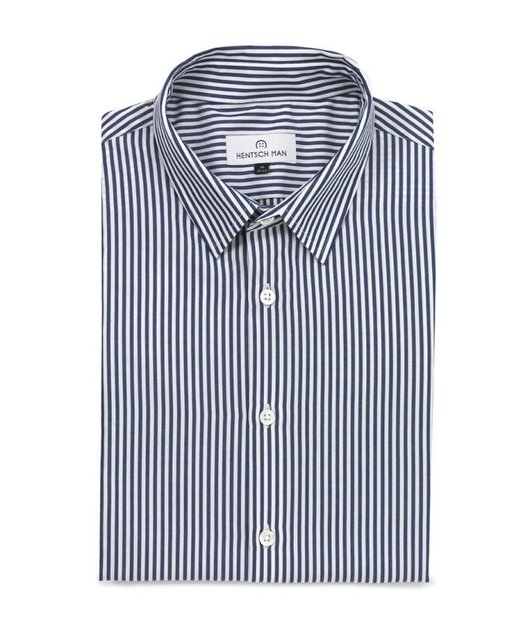 hentsch man summer 2011 collection friday shirt blue-stripe
