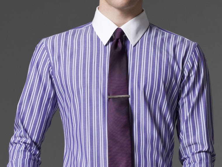 Tailored shirts without leaving chair indochino purple for Purple striped dress shirt