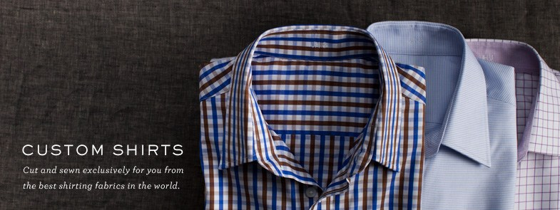 J. Hilburn provides an onsite tailor for your first measurement. Subsequent orders can be placed online.