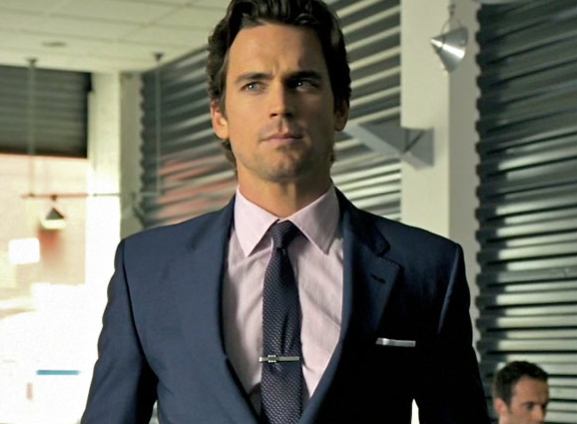 Paul Smith suit, shirt and belt, Hugo Boss tie, Magnanni shoes, vintage tiebar, Thomas Pink cufflinks- White Collar USA network