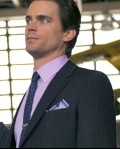 Paul Smith jacket, pants and shirt, Dries Van Noten tie, Ferragamo belt and shoes, vintage tiebar and cufflinks at Ilene Chazanof Decorative Arts NY, pocket square at Paul Stuart NYC - White Collar USA network