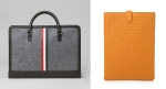 Left: Brooks Brother Felt and Leather Briefcase | Right: Bottega Veneta Intrecciato iPad Holder