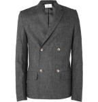 hentsch man double breasted wool blend jacket 1