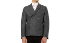 hentsch man double breasted wool blend jacket 4