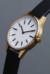 Uniform Wares 250 series watch in Gold and White dial