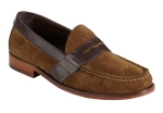 Cole Haan Air Monroe Penny Loafer in Burnt Sugar Suede