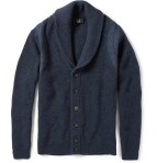 dunhill shawl collar wool cardigan