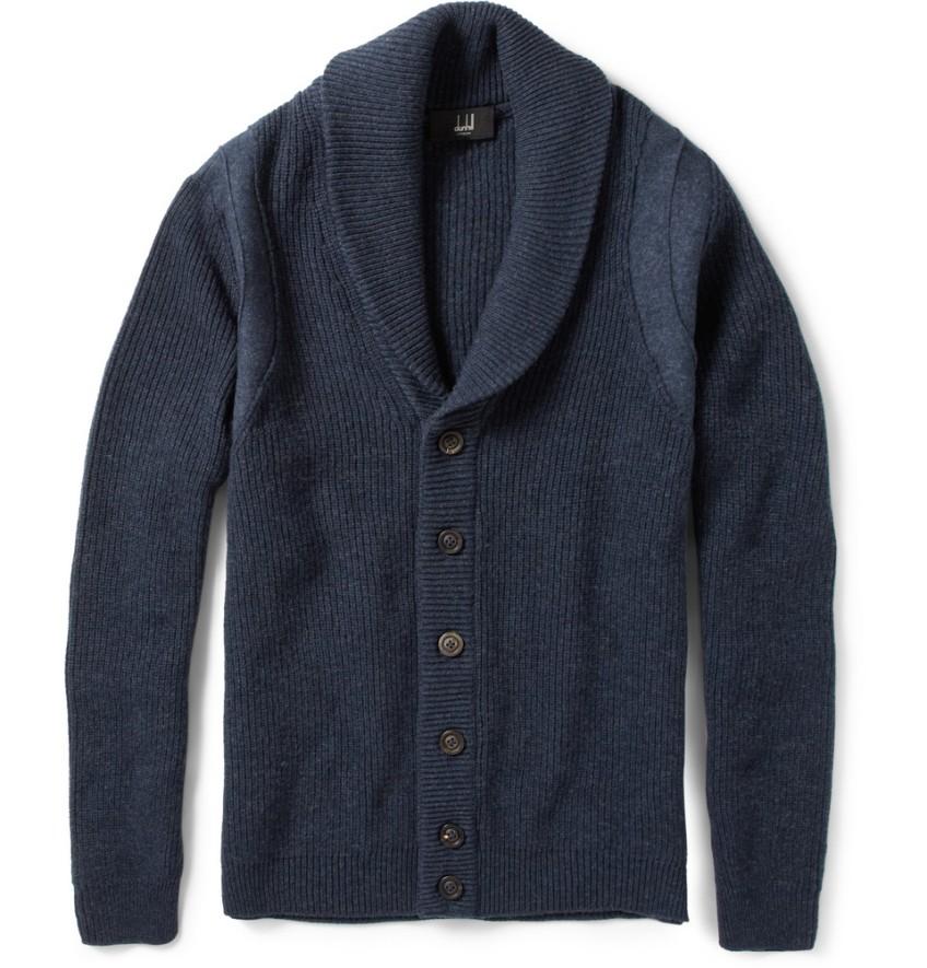 Dunhill Shawl Collar Wool Cardigan 1 The Monsieur