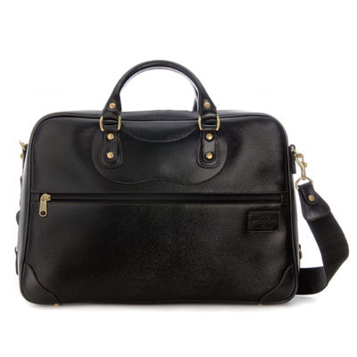 The JPLC Courier Ruc Case in black grain leather