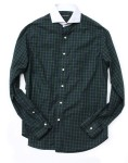 black watch contrast collar sport shirt