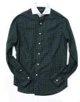 black watch contrast collar sport shirt