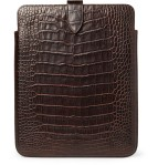 Smythson Crocodile Embossed Leather iPad Case 1