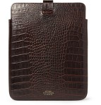 Smythson Crocodile Embossed Leather iPad Case 3