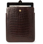 Smythson Crocodile Embossed Leather iPad Case