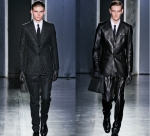 Jil Sanders Fall Menswear 2012- no, it doesn't look like the suit to the left has lots of lint stuck to it.