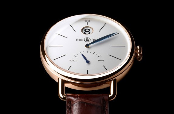 bell & ross the vintage ww1 heure sautante in pink gold 2