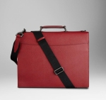 burberry bags shoes accessories-ss2012 leather crossbody briefcase in red 3