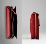 burberry bags shoes accessories-ss2012 leather crossbody briefcase in red 4