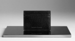 Slim card holder in textured lizard leather with Three card slots and Burberry logo embossed on the front