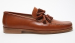 Made in Italy from Vacchetta leather; I especially love the contrast stitching on these Mr Hare Cognac Loafers.