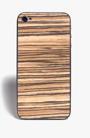 bespoke iPhone with sled flyer zebrawood