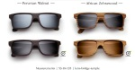 Govy sunglasses with different wood textures