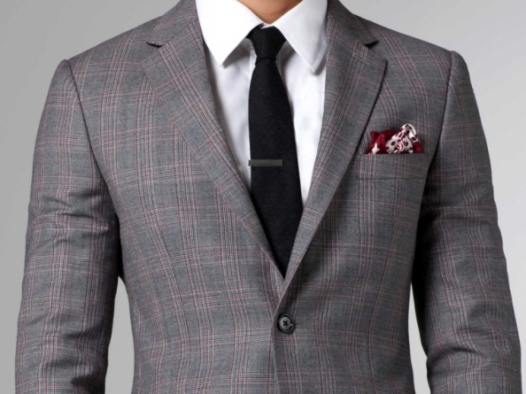 Suits are all about fit. If you're already fit, the cut of the suit accentuates your body. While a good tailor can hide your flaws, it's best you make it his job to bring out your best features.