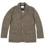 Nanamica Gore-Tex Field Jacket in Beige Herringbone