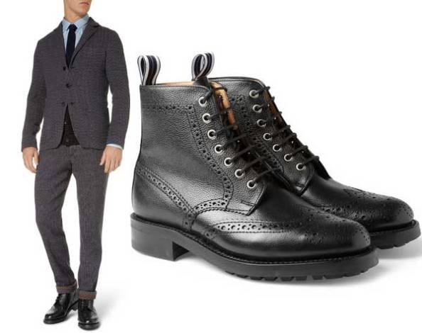 Oliver Spencer black brogue boots are as stylish as they are tough to polish. So I've given them a miss this time.