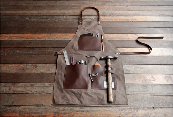 This stylish gentleman's apron will hold all your tools in place while you help that sexy next door neighbour with her plumbing.