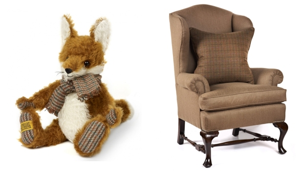 Limited Edition Mr Fox and Vintage Wingback Chair.