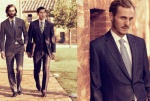 Downton-esque, dark, elegant office wear for sombre affairs are also part of the Brioni SS13 ensemble.