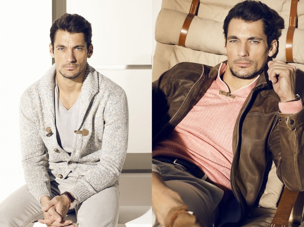 David Gandy fronts Massimo Dutti's 2013 campaign with classic colors like black, brown and navy blues.
