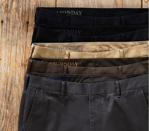 Bonobos  WEEKDAY WARRIORS: Monday Blues, Tuesday Blacks, Wednesday Tans, Thursday Browns, Friday Greys