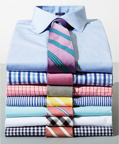 Bonobos Gentleman Collar Dress Shirt in Blue, Blue & White Check, Pink & White Check, Banker Stripe, Mini Turquoise Gingham, White, Navy Gingham.  Contrast them up with these neckties-Kennebunkport, Welfeet, Saybrook, Cape May, North Haven, Ginghampton, Cape May