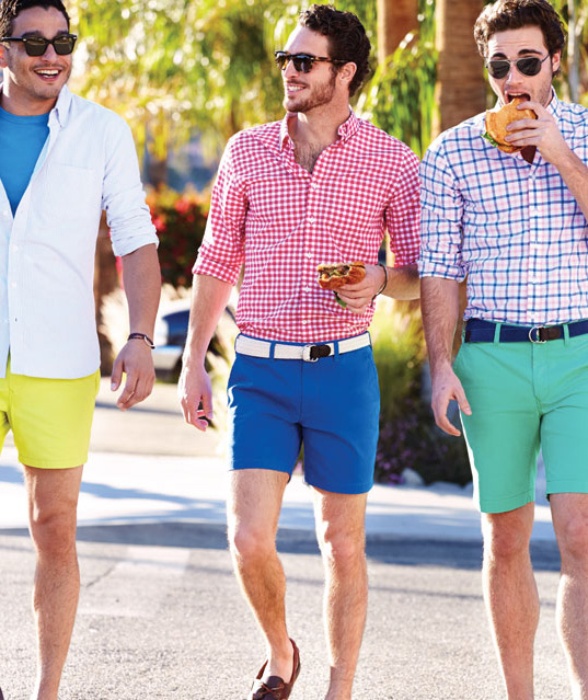 Pink Shirt Blue Shorts
