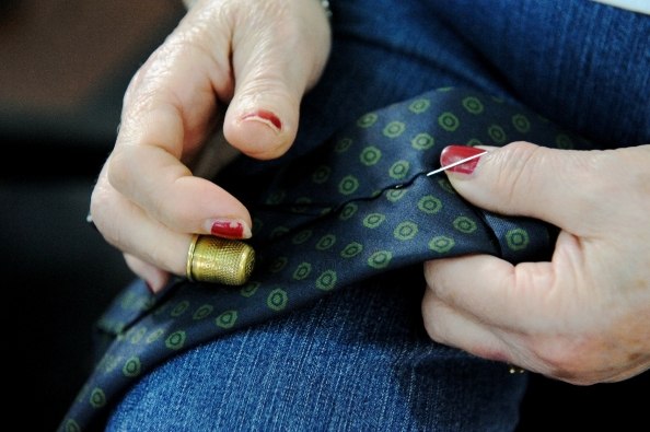 Lovingly handmade by an  Italian seamtress who happens to work for bespoke tailors as well.