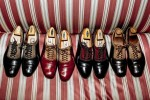 A collection of his made-to-measure Vincent & Edgar shoes. Credit: François Dischinger for The Wall Street Journal