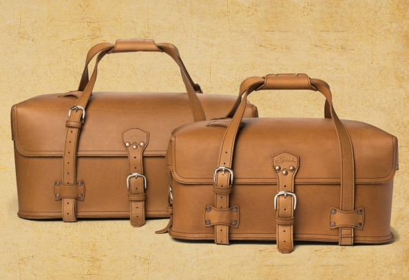 saddle back leather utility duffel