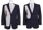 Left: Fully canvassed Right: Half canvassed. Image: Montagio Custom Tailoring Australia.