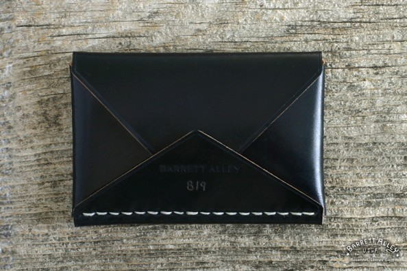 Barrett Alley Black shell cordovan Disciple Wallet 1