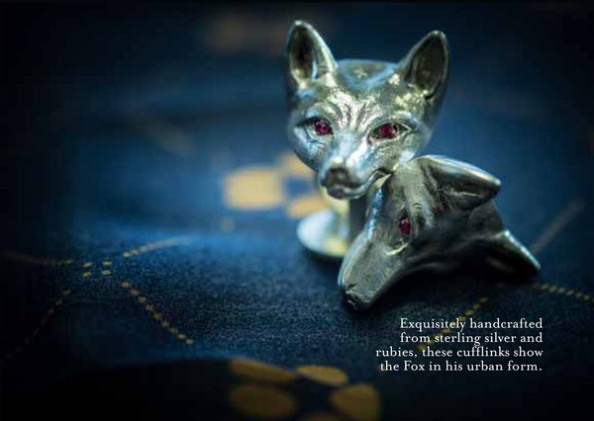 whimisical accessories- monsieur fox cufflinks and pocket squares 1