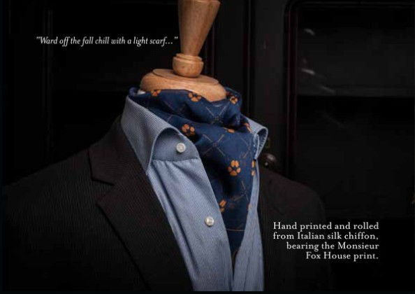 whimisical accessories- monsieur fox cufflinks and pocket squares 2